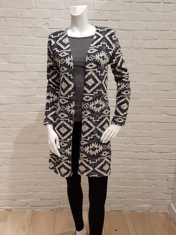 Tapestry sweater jacket