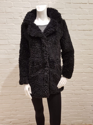 Shag faux fur jacket