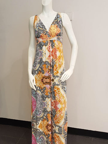 Multi print Grecian dress
