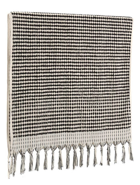 Monochrome Turkish Pom Pom Towel