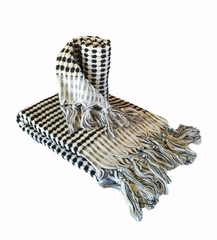 Monochrome Turkish Pom Pom Hand Towel
