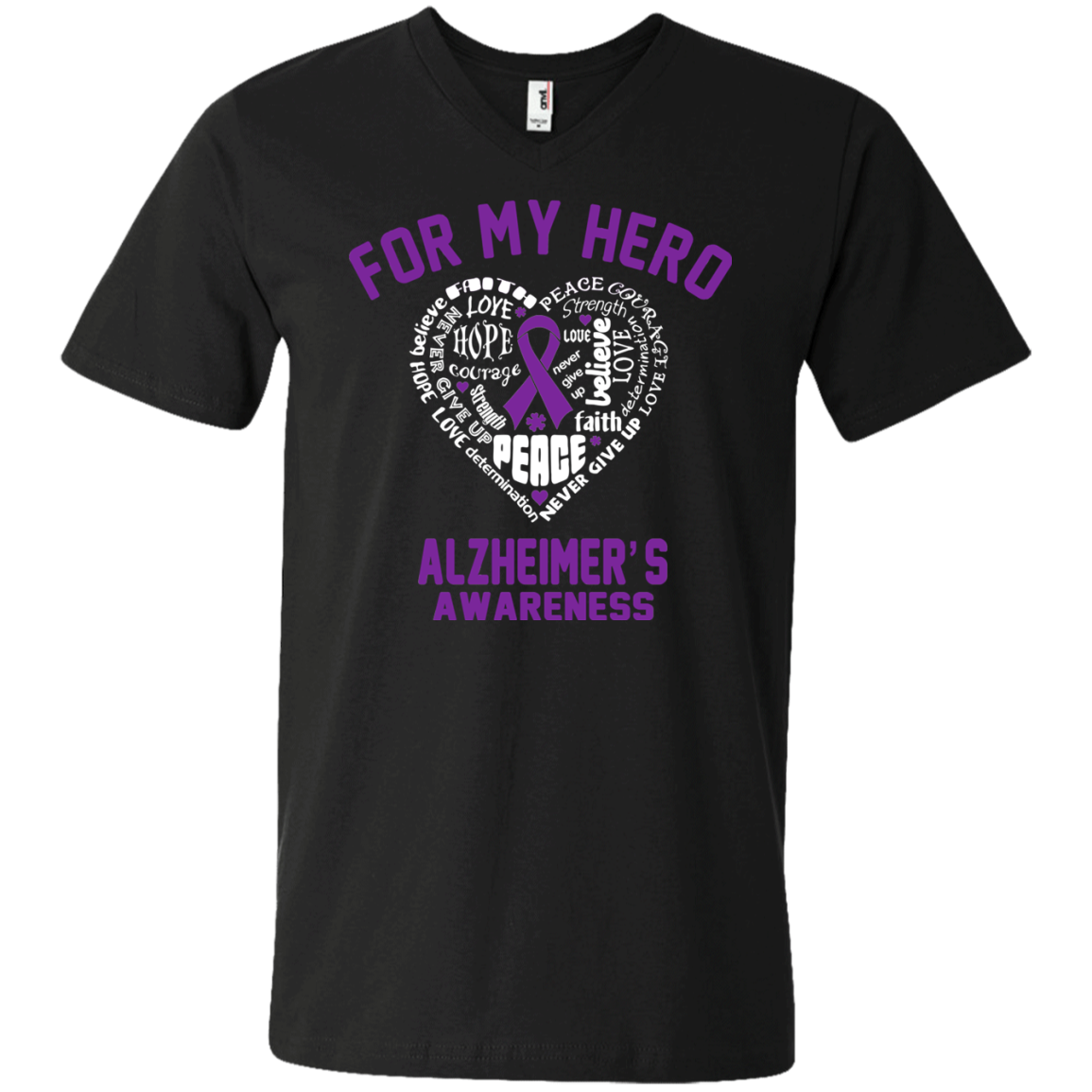 For My Hero… Alzheimer's Awareness V-Neck