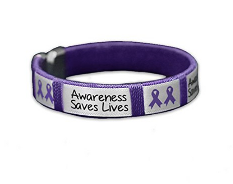 Alzheimer's Awareness Saves Lives Bangle Bracelet