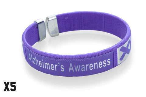 5 Pack Alzheimer's Awareness Bangle