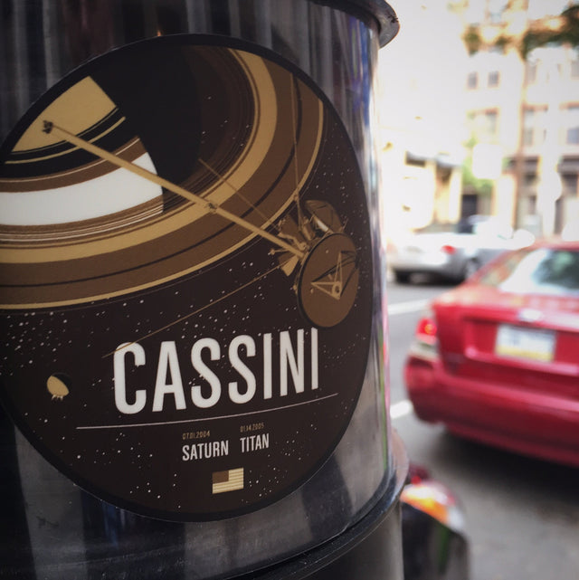 Cassini Sticker from the Historic Robotic Spacecraft Series