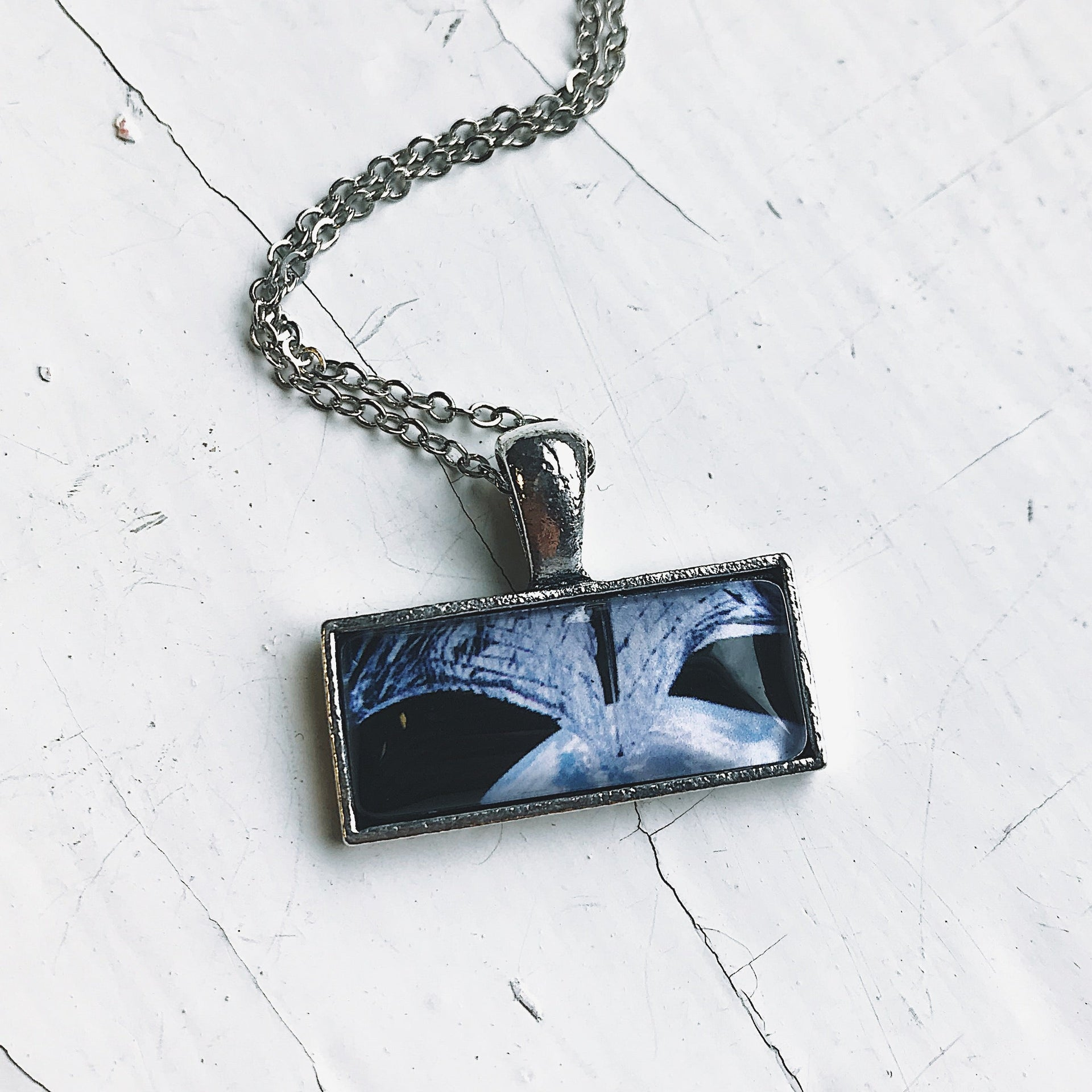 Planetary Society LightSail Images Rectangle Necklace