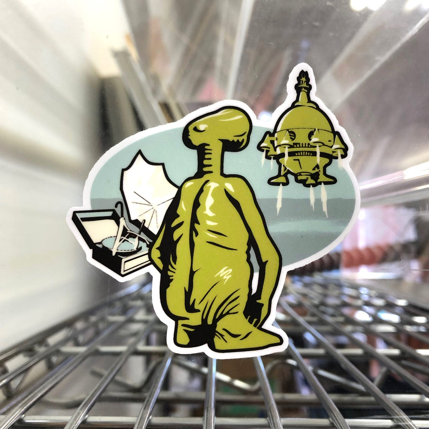 E.T. Phoned Home Sticker