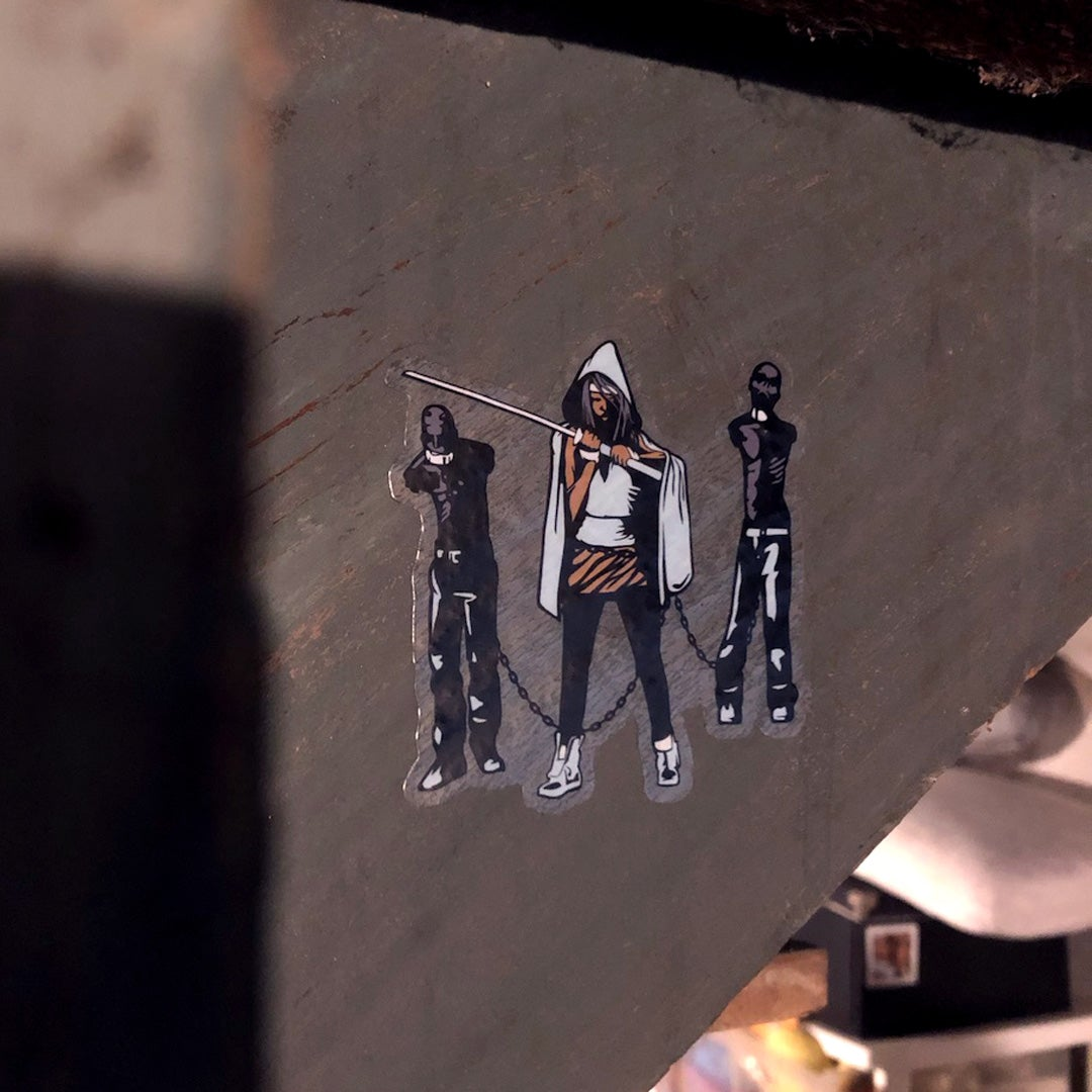Michonne and Family Sticker