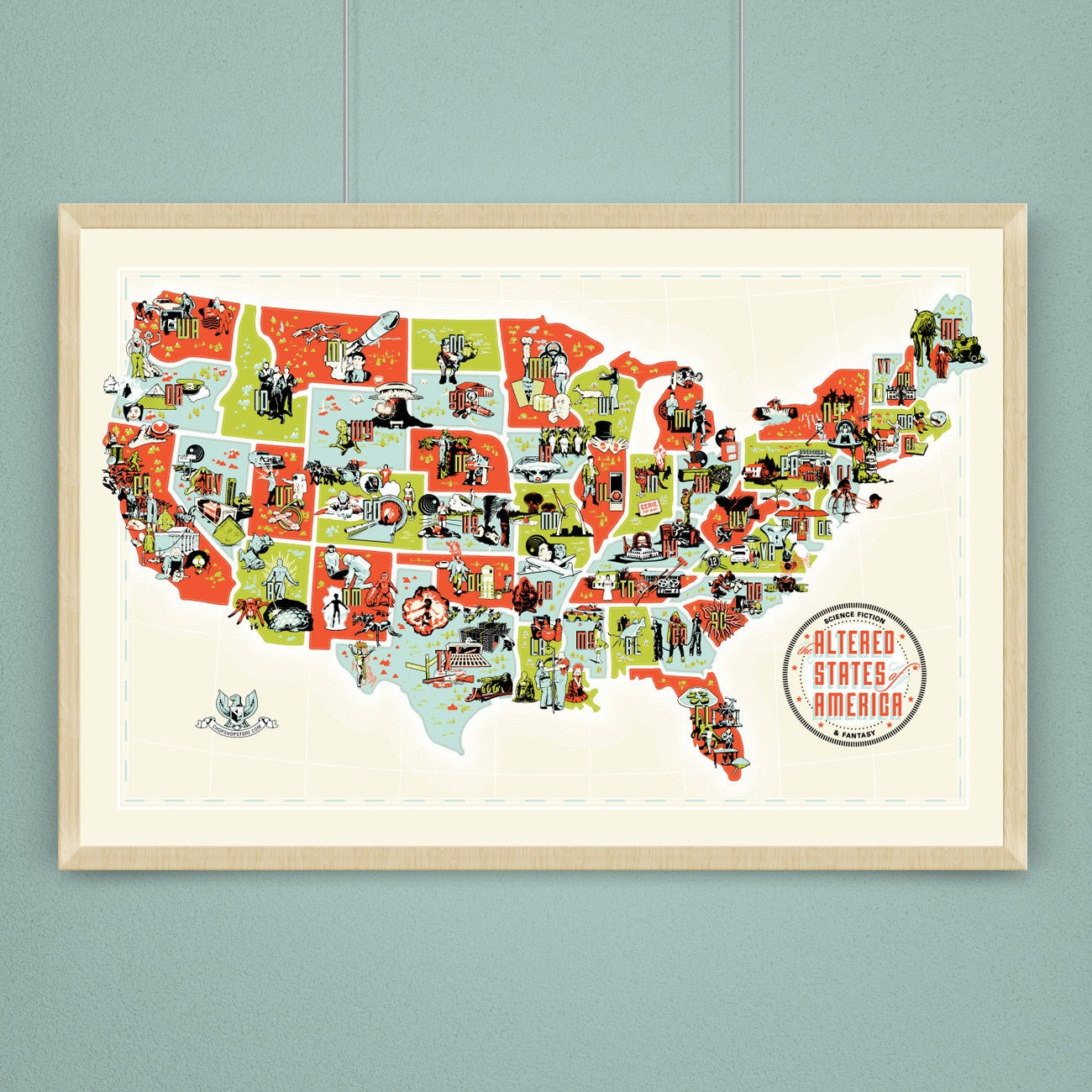 Altered States Of America A SciFiHorror Map Of The USA - Usa full map