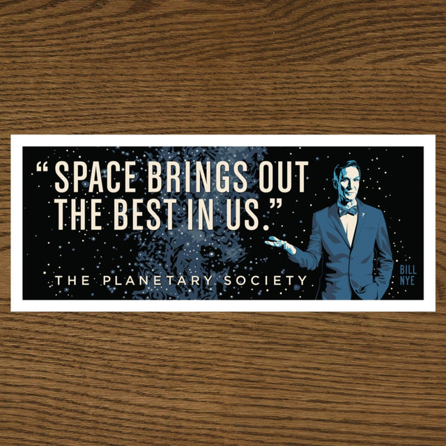 Bill Nye Quote Bumper Sticker
