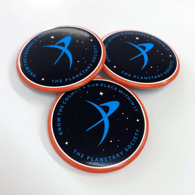 Know the Cosmos Buttons for The Planetary Society