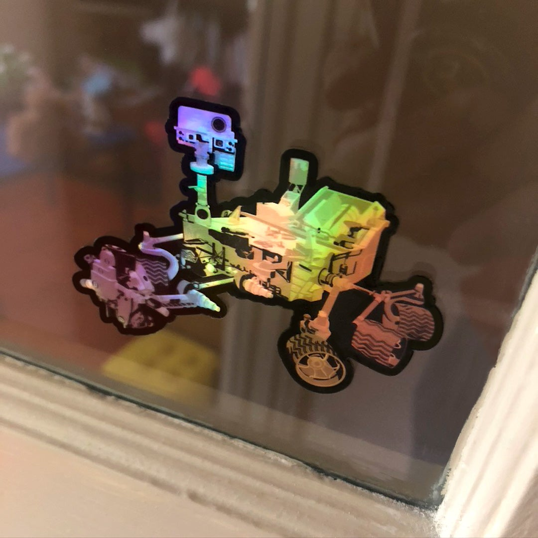 Current Missions: Curiosity Holographic Style Sticker