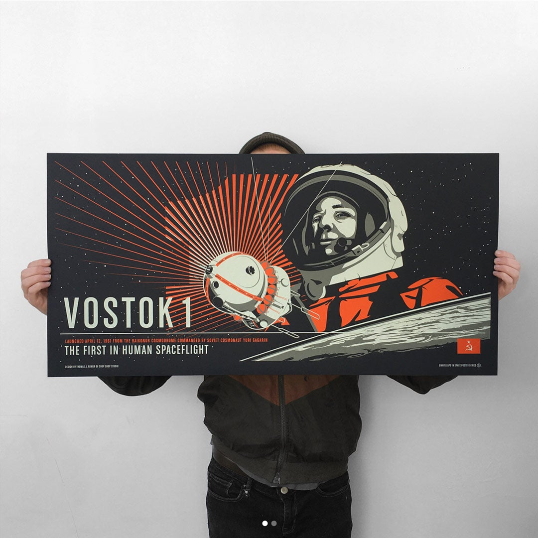 Vostok 1 from the Giant Leaps in Space Print Series