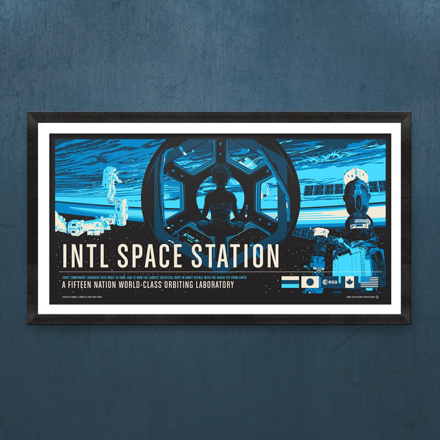 ISS from the Giant Leaps in Space Print Series