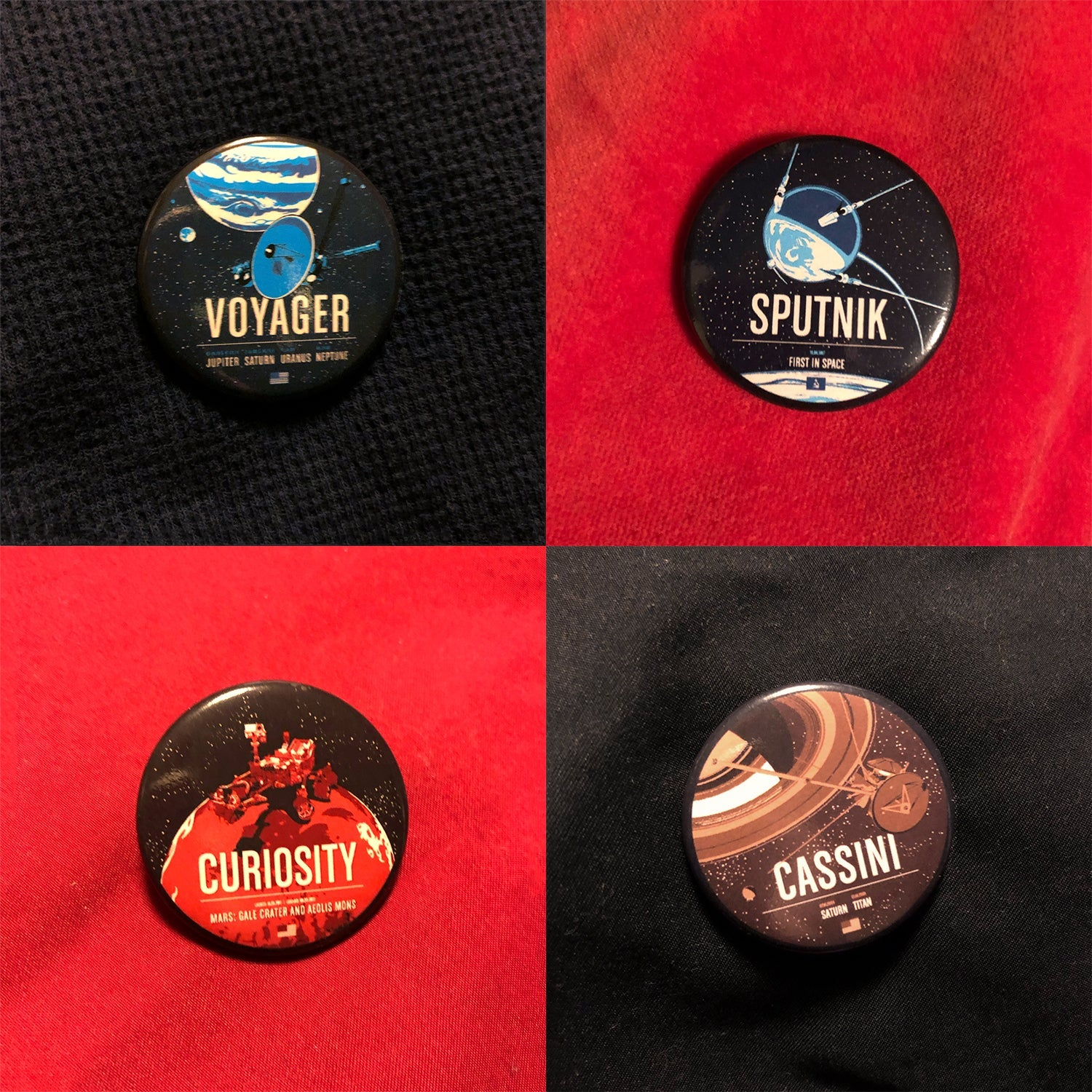 Historic Robotic Spacecraft Series Buttons