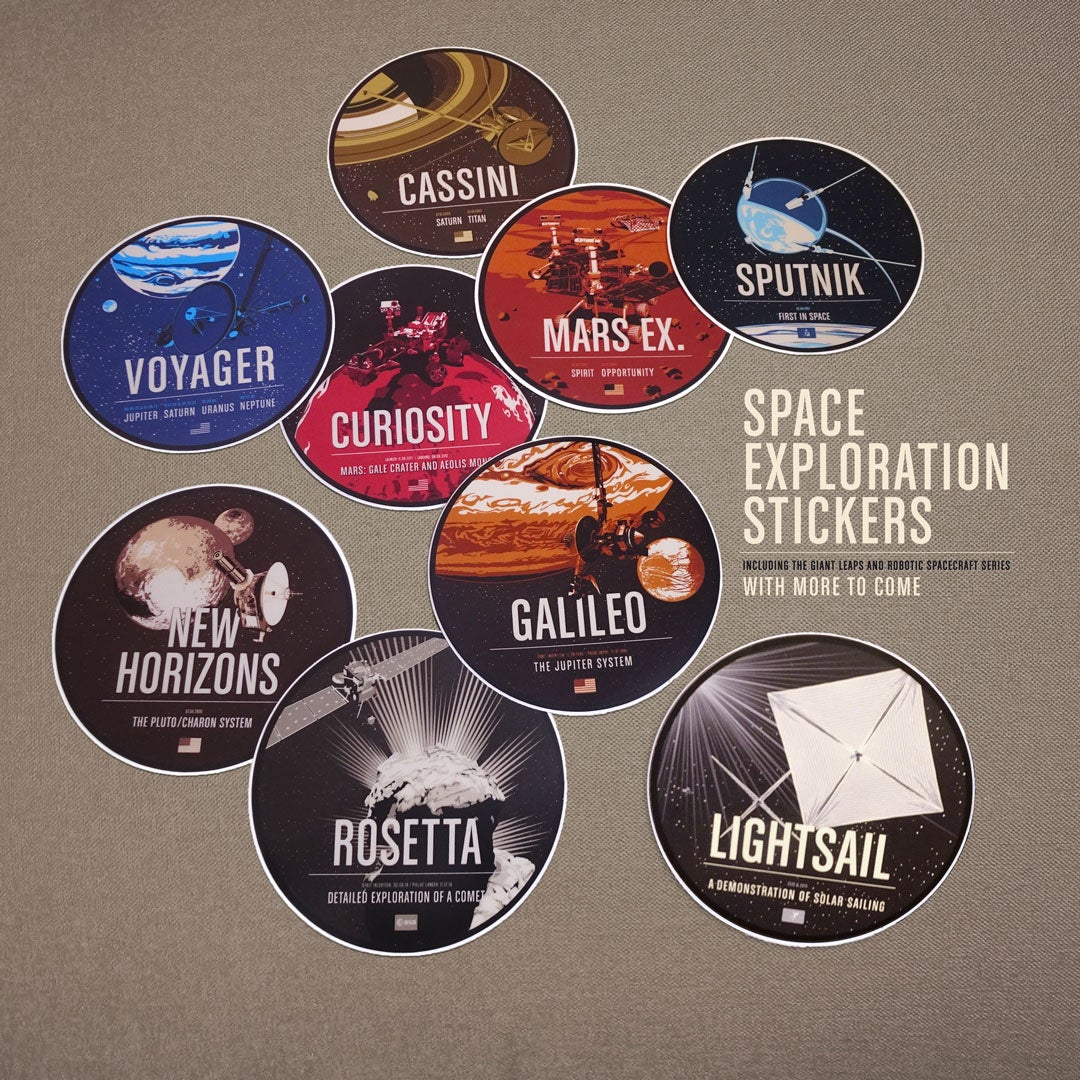Spacecraft Sticker Full Set