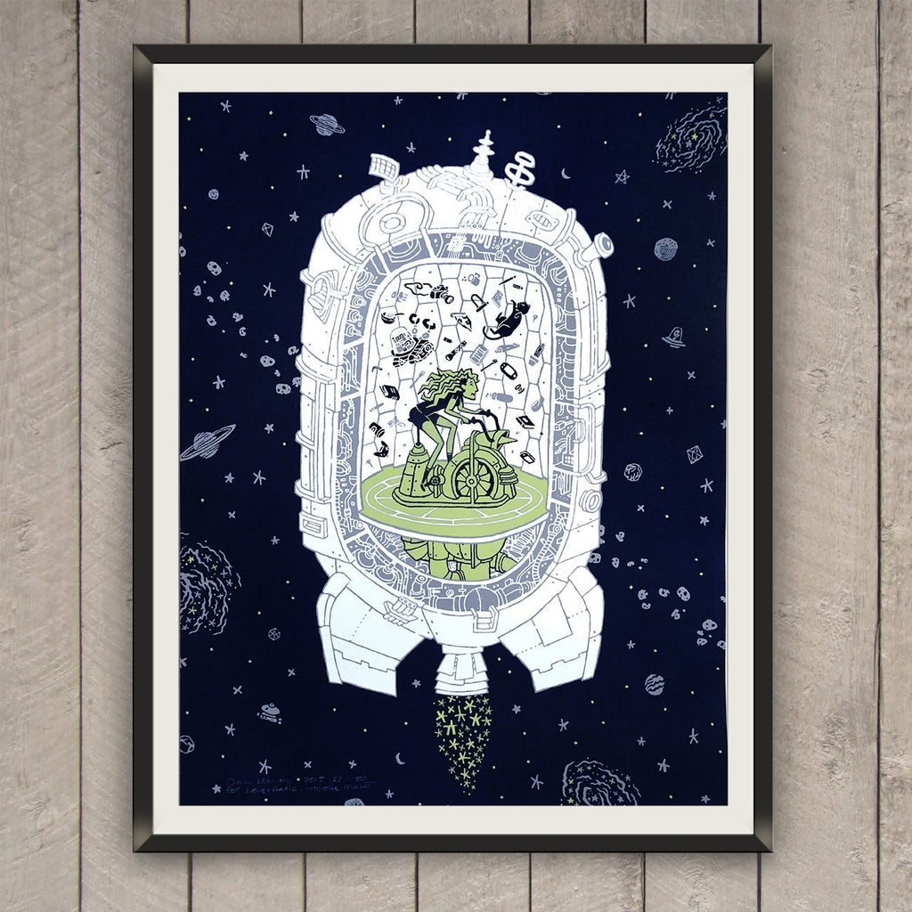 Hostile Planet Screen Print for Love + Radio