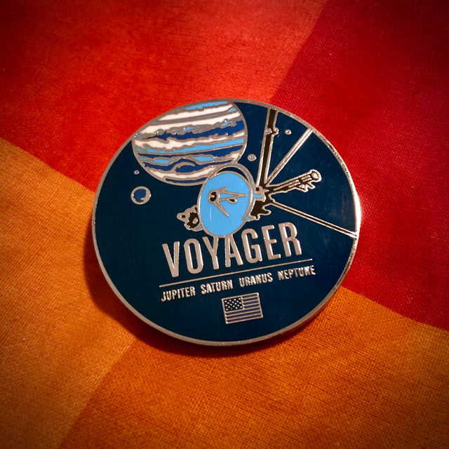 Voyager Enameled Pin from the Historic Spacecraft Series