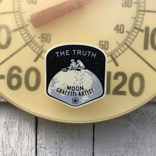 The Truth Moon Sticker