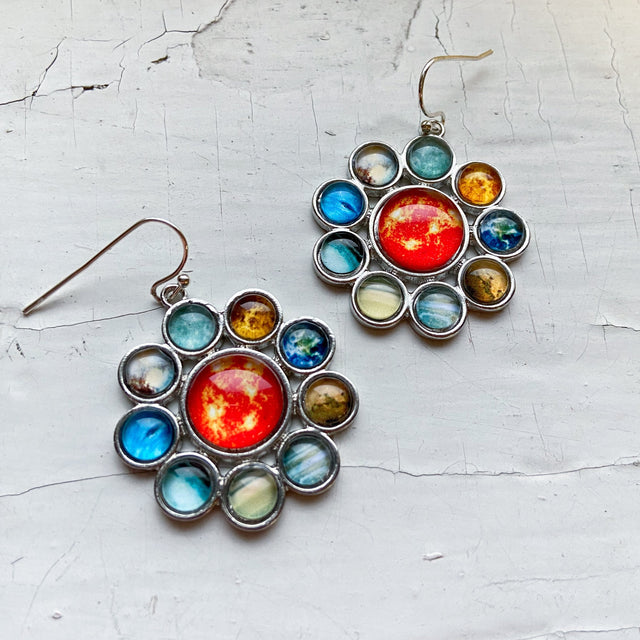 Solar System Halo Dangle Earrings - Yugen Tribe