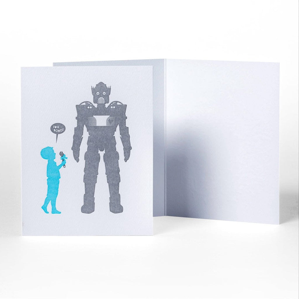 Love You Robot Greeting Card