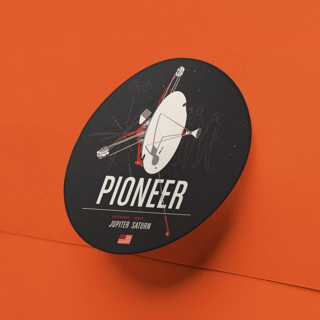 Pioneer Sticker from the Historic Robotic Spacecraft Series