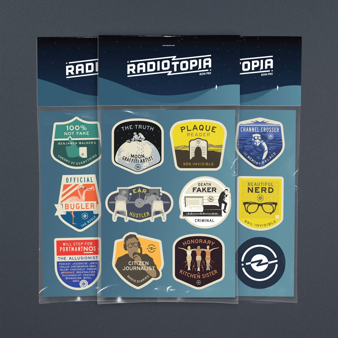 Radiotopia Merit Badge Stickers (Sets of 18)
