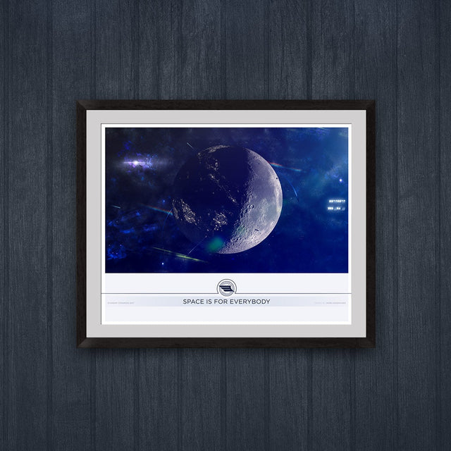 Space Is For Everybody Lunar Print for Icarus Interstellar