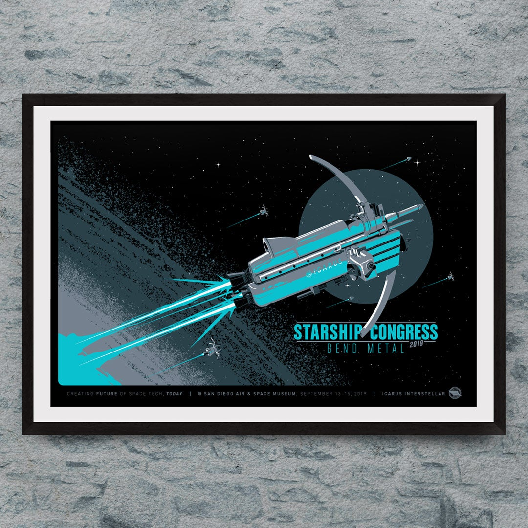 Starship Congress 2019: Bend Metal Print