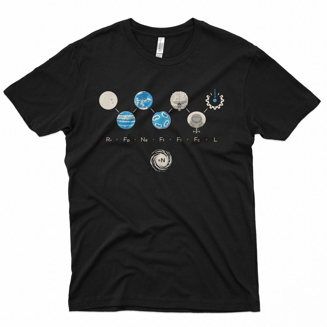 Drake Equation T-Shirt for SETI Institute