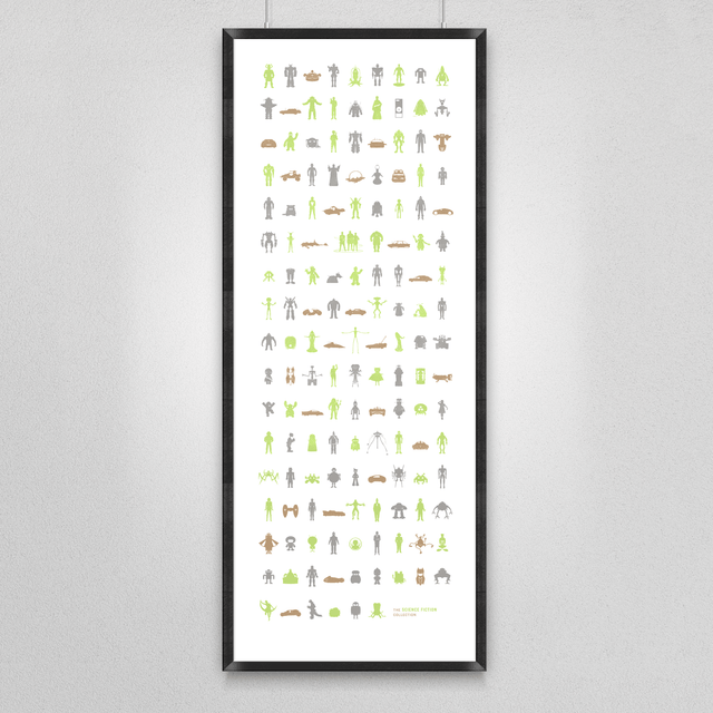 149 Icons of Science Fiction Screen Print