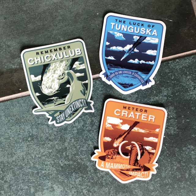 KickAsteroid Historic Impacts Sticker Set