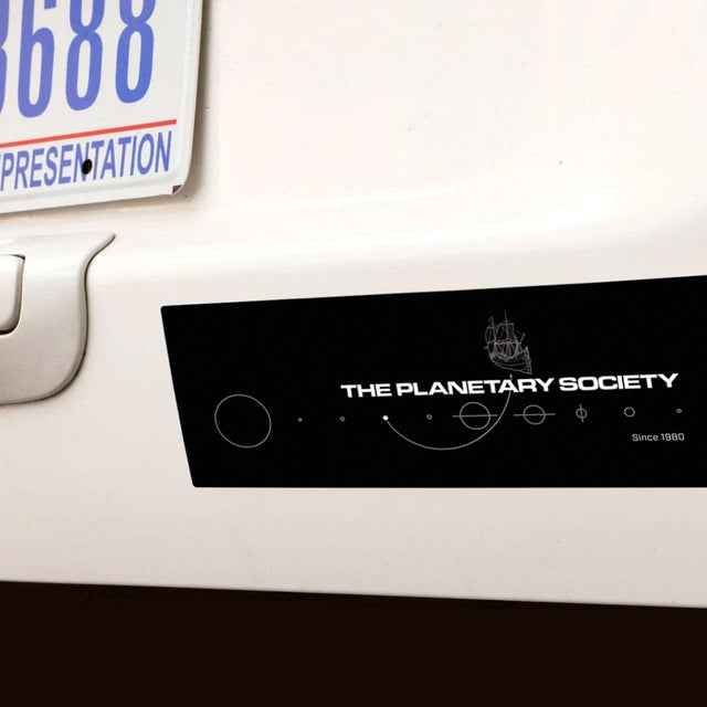 Vintage Clipper Logo Bumper Sticker for The Planetary Society