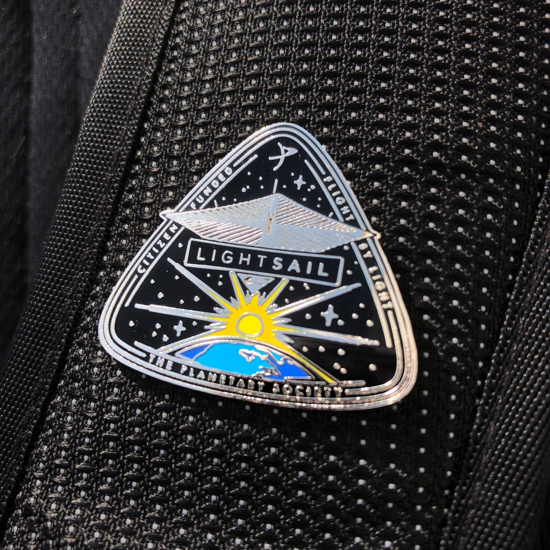 LightSail 1 Enameled Pin for Planetary Society