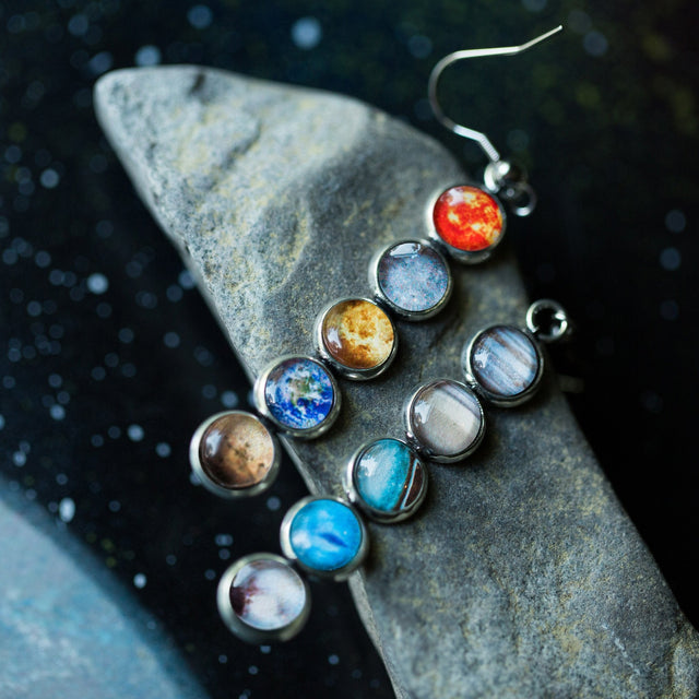Solar System Mis-Matched Earrings - Yugen Tribe