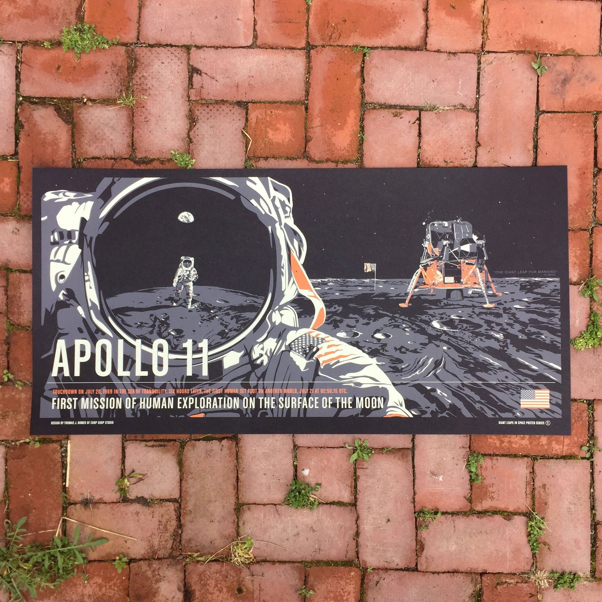 Apollo 11 from the Giant Leaps in Space Print Series