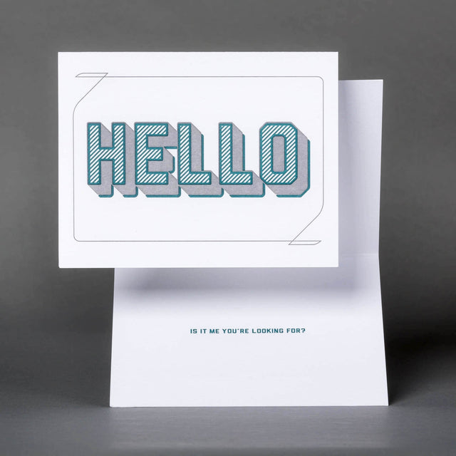 Hello, Is It Me? Greeting Card.