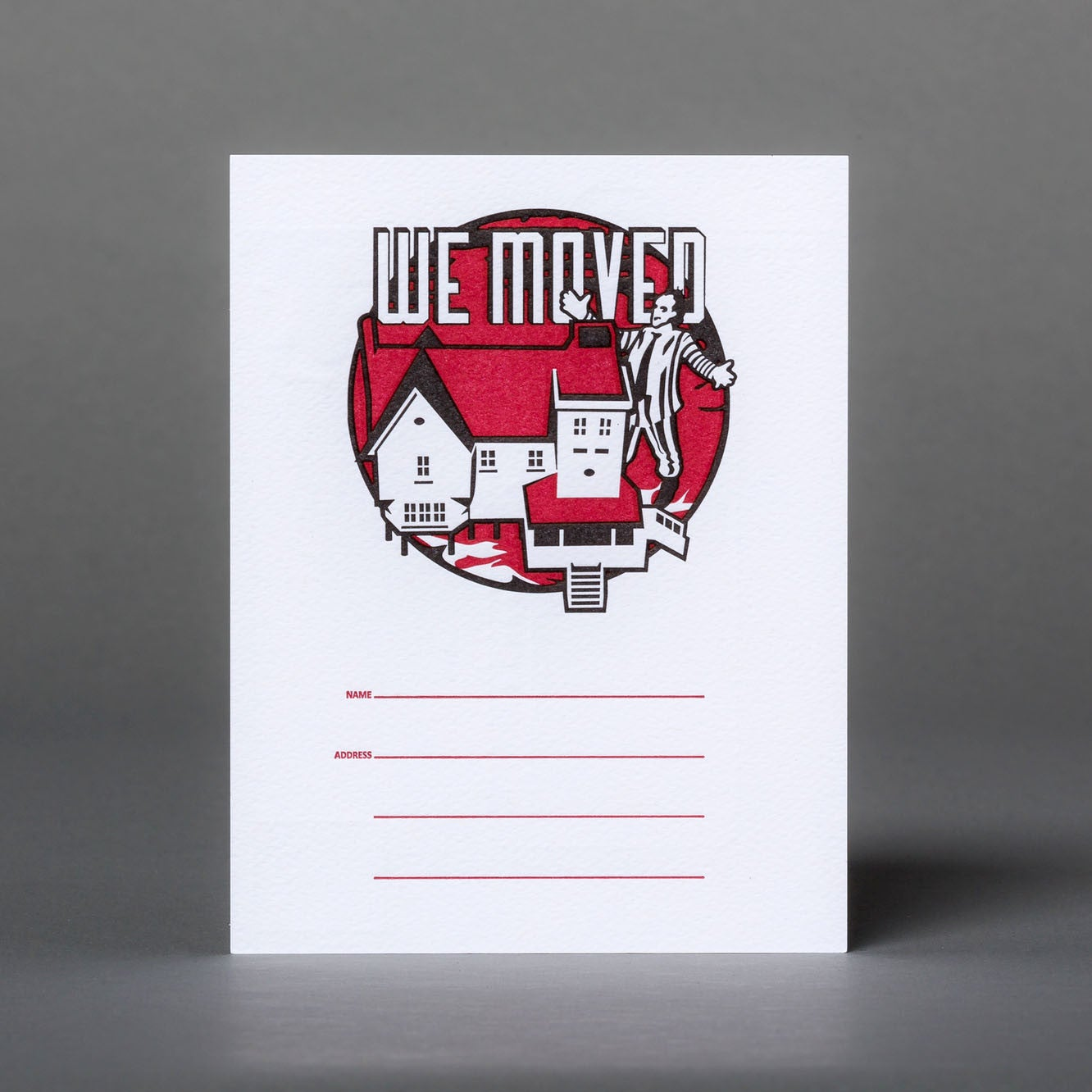 Beetlejuice We're Moving Postcards
