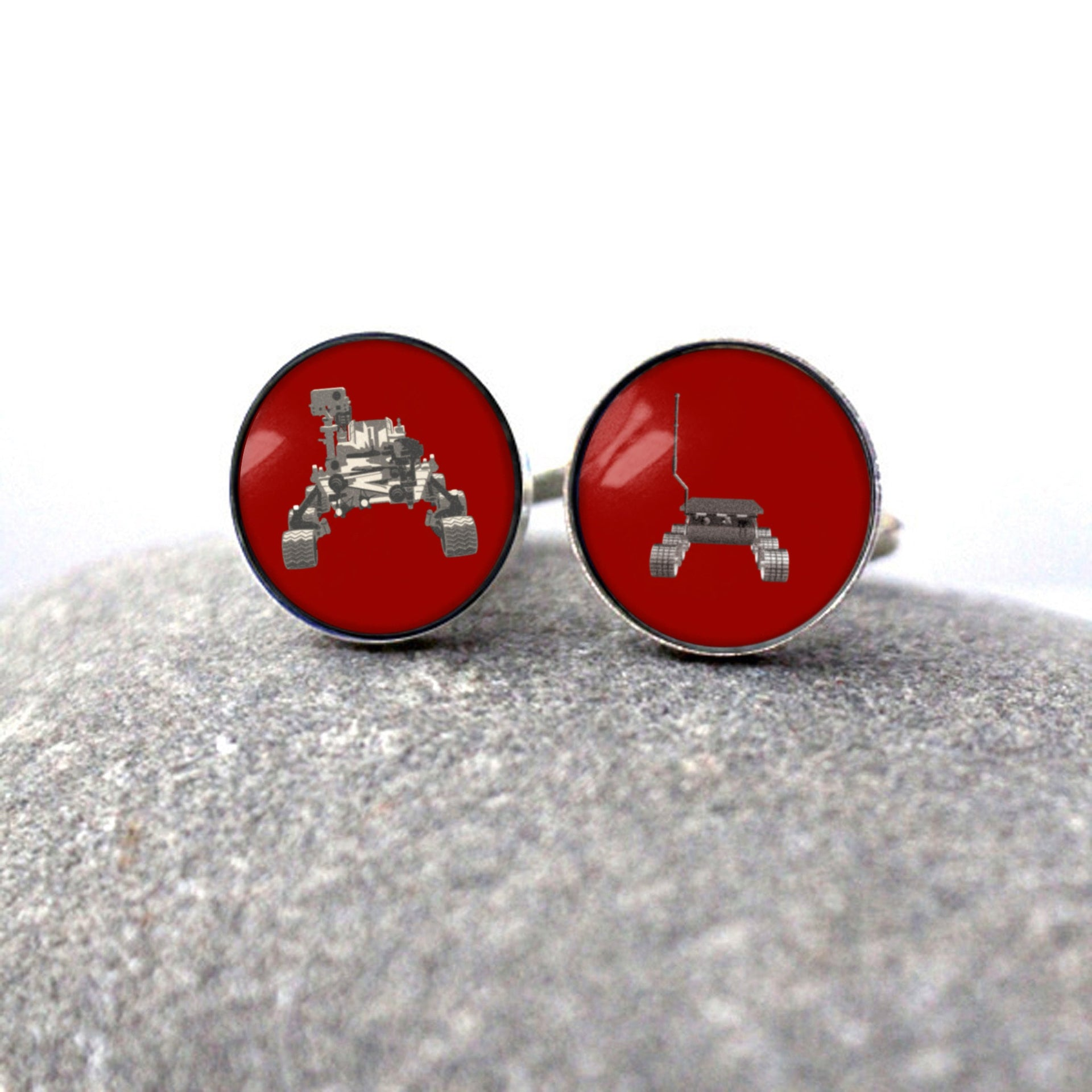 Father and Child Mars Rover Cufflinks