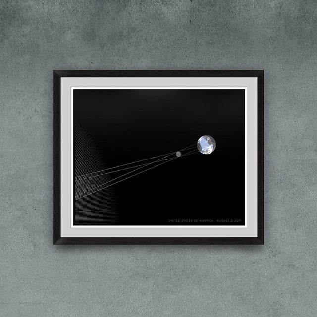 Great American Eclipse Diagram Print