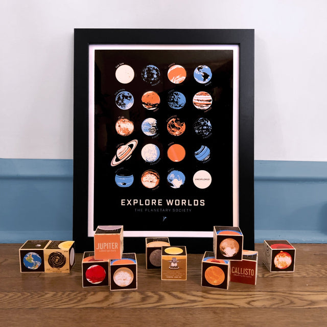 Explore Worlds Print for The Planetary Society