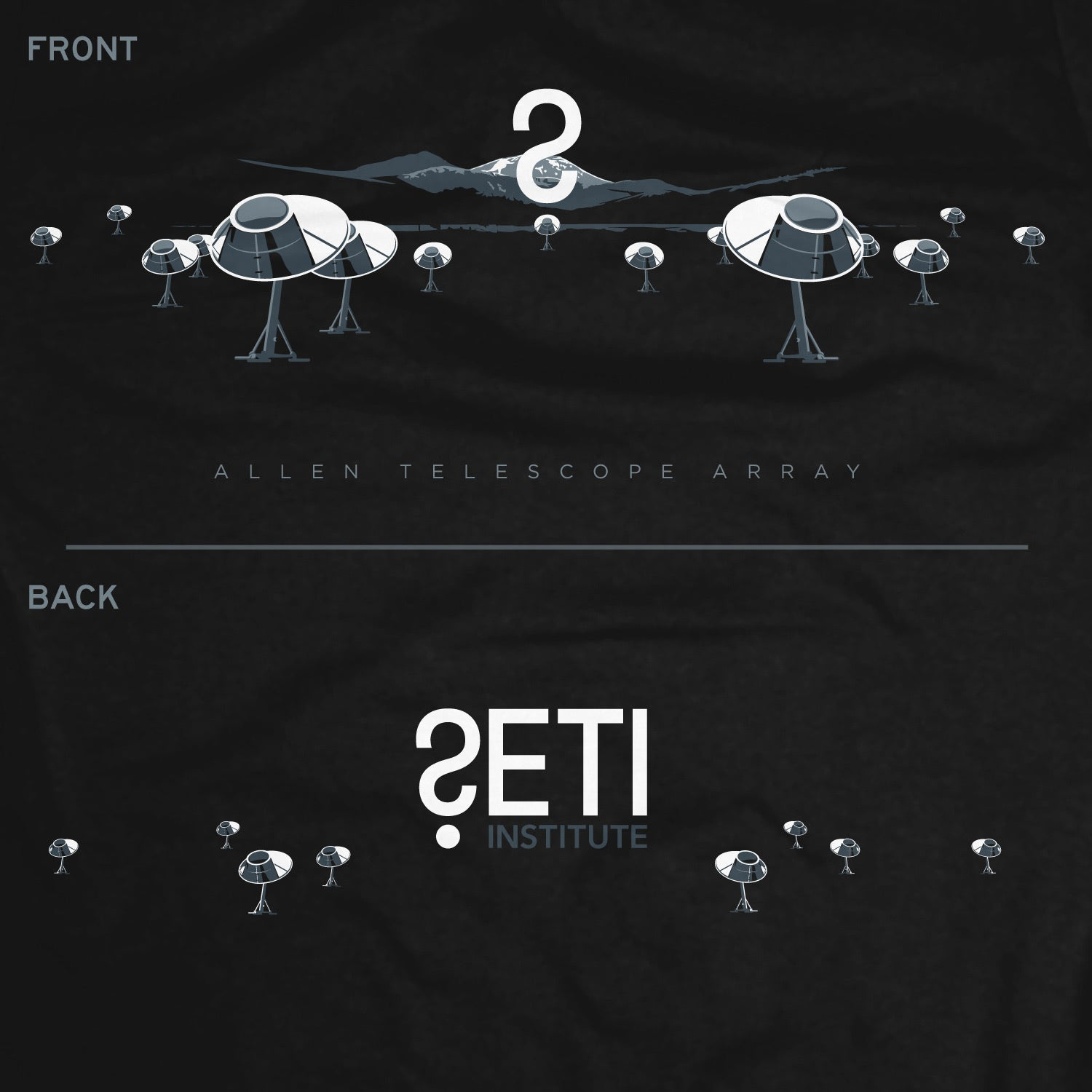 The Allen Array Telescope T-Shirt for SETI2019
