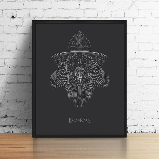 Gandalf the Pinstriped Archival Digital Print