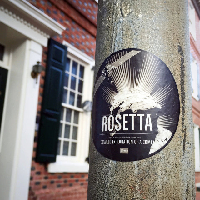 Rosetta Sticker from the Historic Robotic Spacecraft Series