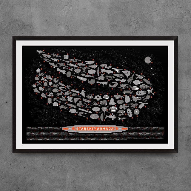 Starship Armada Digital Print