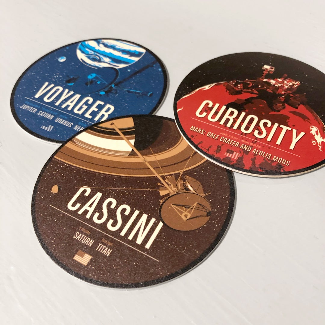 Voyager, Cassini and Curiosity Coasters