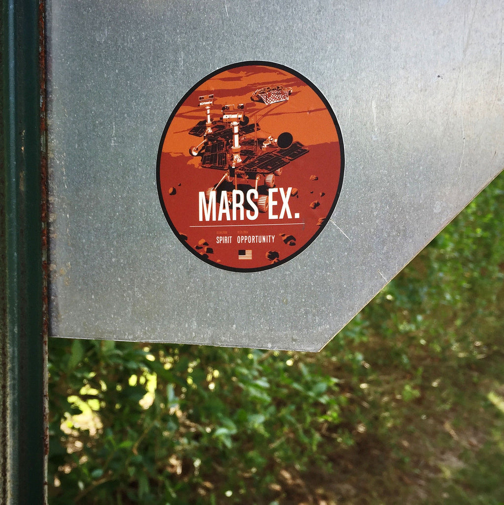Mars Exploration Sticker from the Historic Robotic Spacecraft Series
