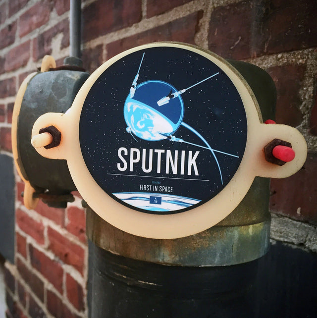 Sputnik Sticker from the Historic Robotic Spacecraft Series