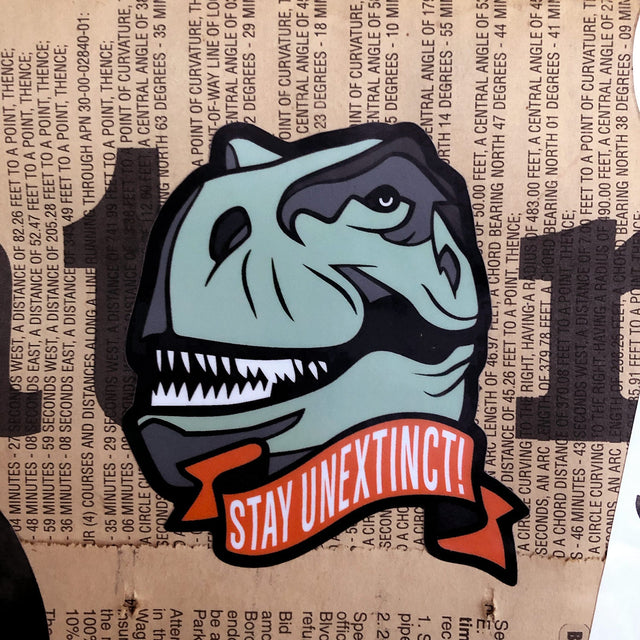 Stay Unextinct Sticker for Planetary Society