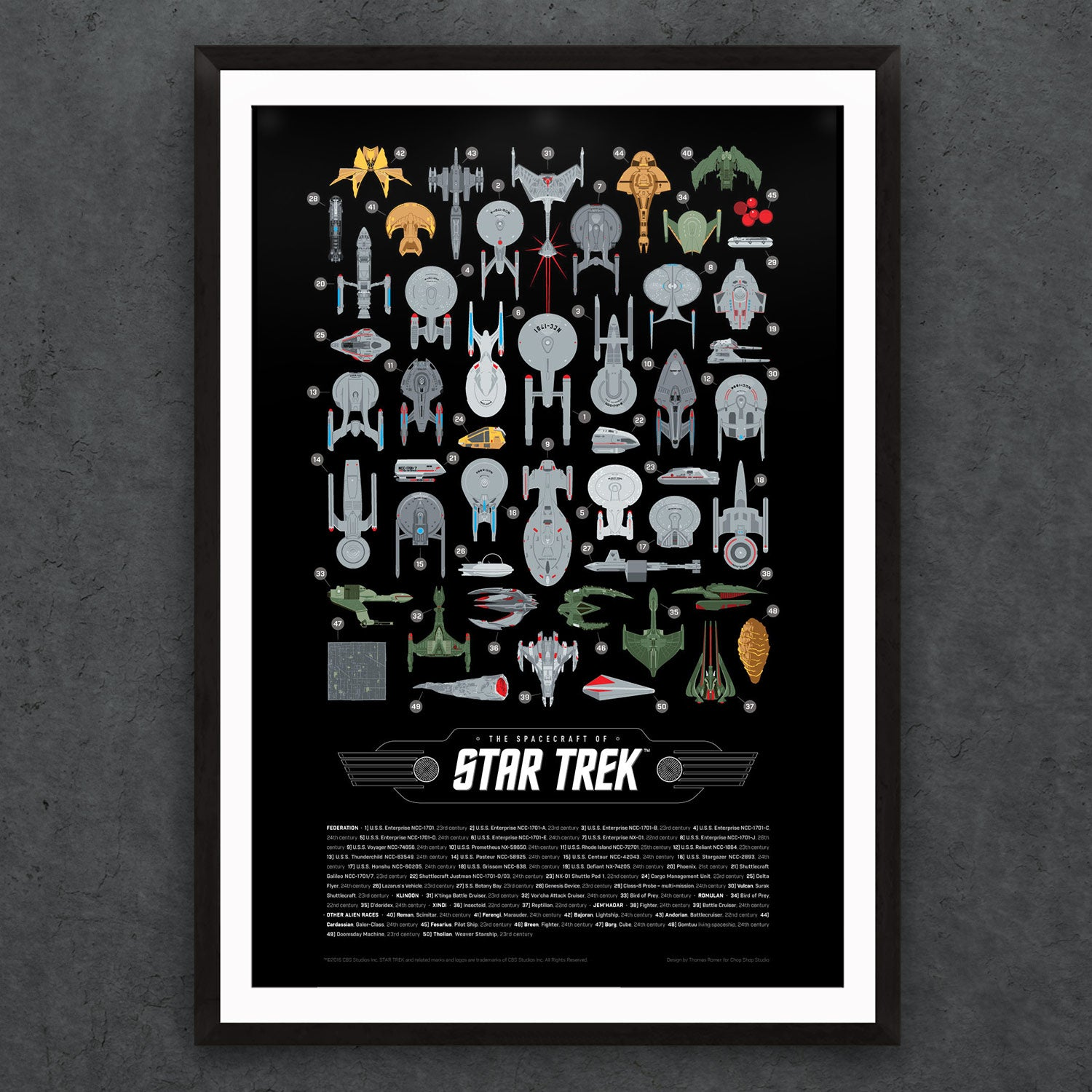 Star Trek Starships Print